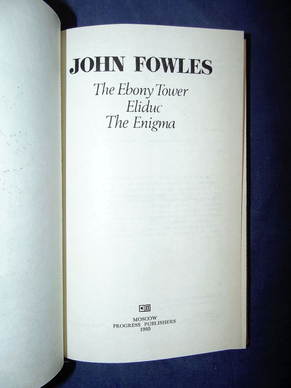 john fowles the enigma essay The ebony tower a collection of short stories by john fowles contents the ebony tower eliduc a personal note eliduc poor koko the enigma the cloud 2.