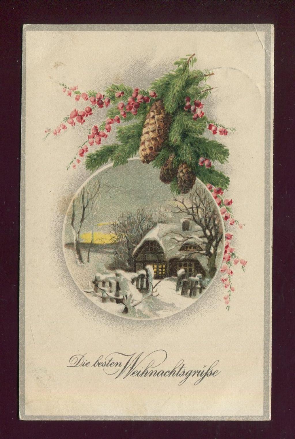 Старые рождественские открытки (91 фото) 44