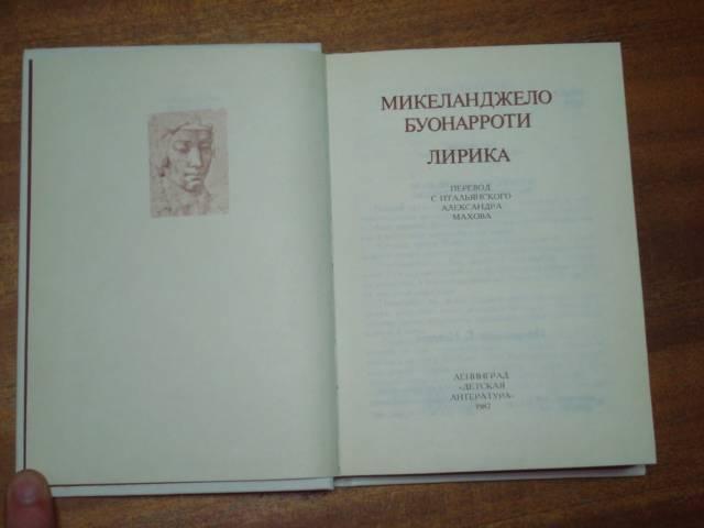 микеланджело перевод эфроса махова